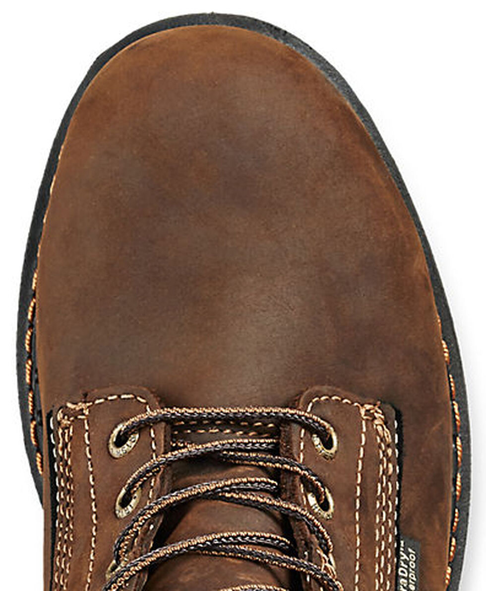 """Irish Setter by Red Wing Shoes Men's Ramsey 6"""" Work Boots - Soft Round Toe  , Brown, hi-res"""