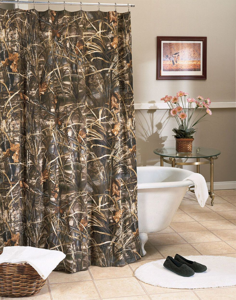 Realtree MAX-4 Camo Shower Curtain, Camouflage, hi-res