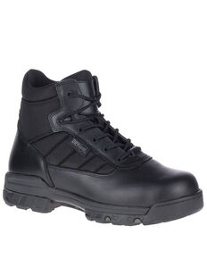 Bates Men's UltraLite Waterproof Work Boots - Soft Toe, Black, hi-res
