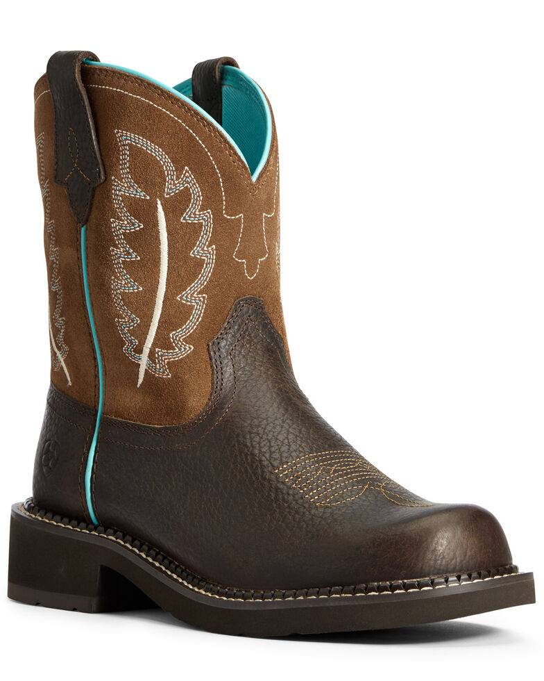 Ariat Women's Heritage Feather II Western Boots - Round Toe, Brown, hi-res