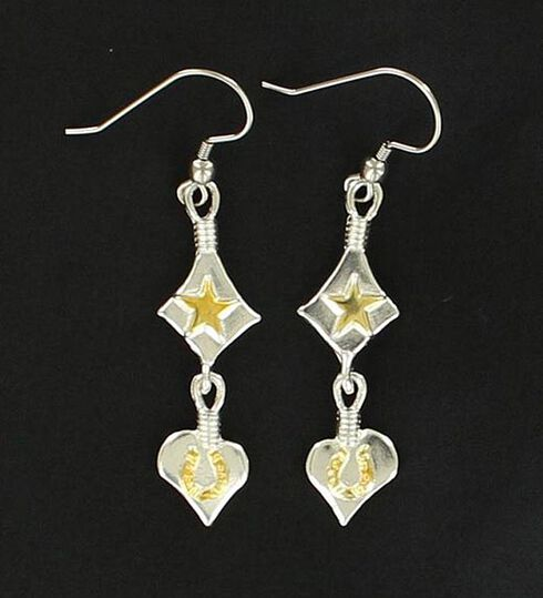 Lightning Ridge Star, Heart & Horseshoe Charm Earrings, Multi, hi-res