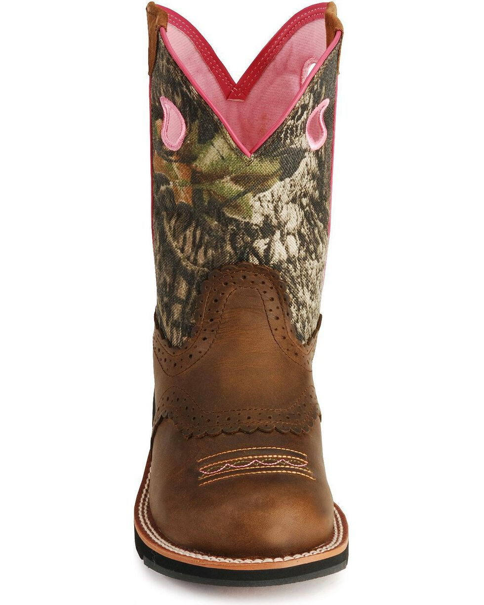 Ariat Fatbaby Camo Cowgirl Boots, Distressed, hi-res