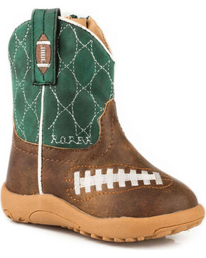 Roper Infant Boys' Football Pre-Walker Cowboy Boots , Brown, hi-res