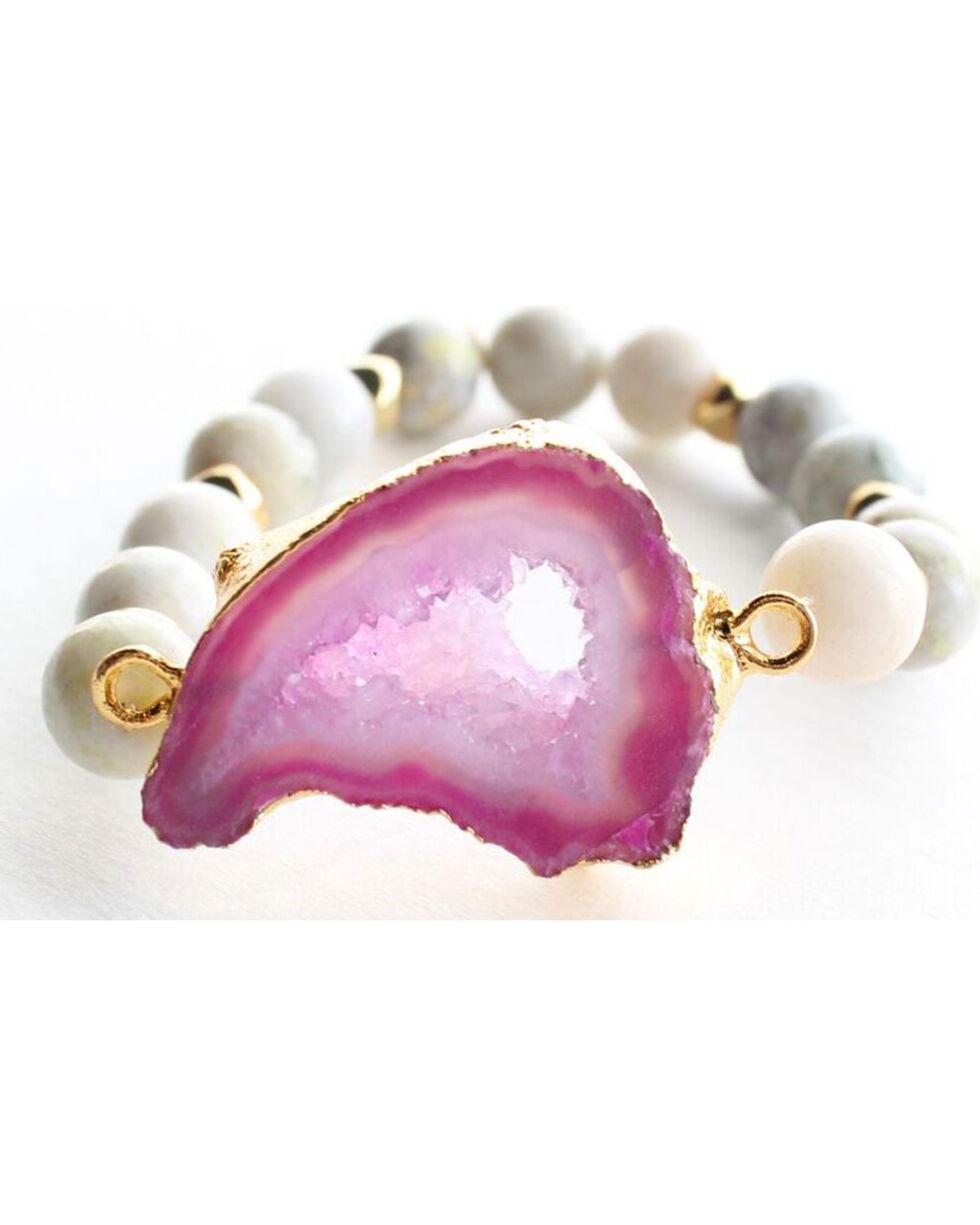 Everlasting Joy A Bloom in Purple Bracelet, Purple, hi-res
