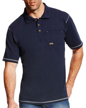 Ariat Men's Rebar Polo - Big & Tall, Navy, hi-res