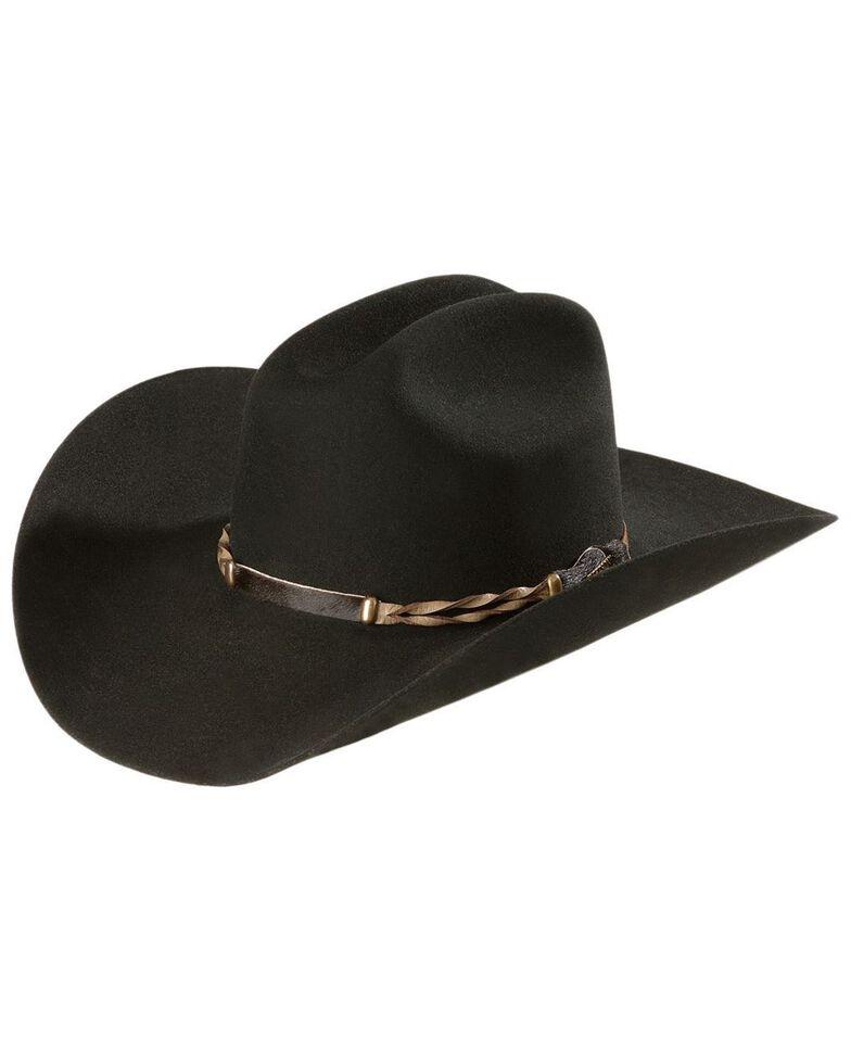 Stetson Men's 4X Portage Buffalo Felt Cowboy Hat, Black, hi-res