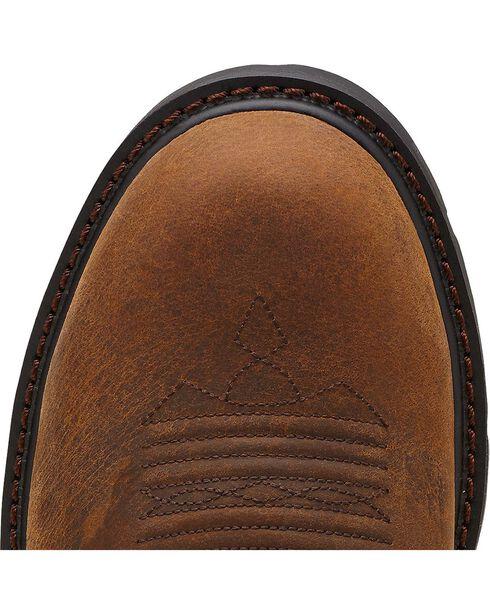 Ariat Groundbreaker Camo Pull-On Work Boots - Steel Toe, Dark Brown, hi-res