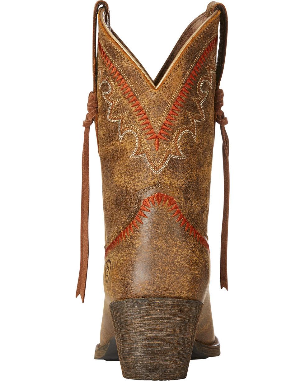 Ariat Women's Brown Round Up Aztec Bomber Boots - Snip Toe , Brown, hi-res