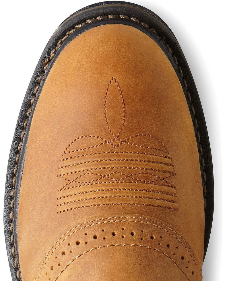 Ariat Men's Brown H20 Workhog Work Boots - Composite Toe, Aged Bark, hi-res