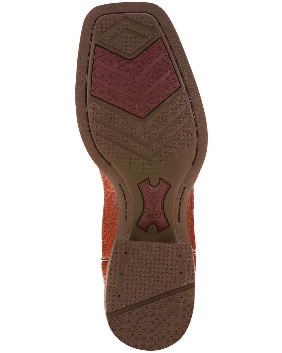 Ariat Men's Cognac Heritage Latigo Western Boots - Wide Square Toe , Cognac, hi-res