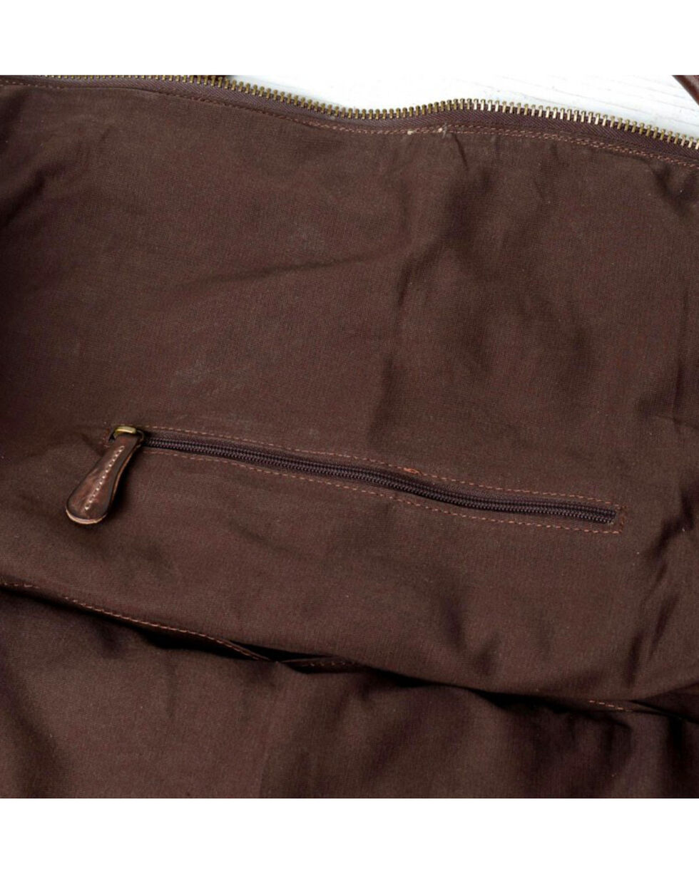 Bed Stu Men's Exile Teak Rustic Leather Travel Bag, Dark Brown, hi-res