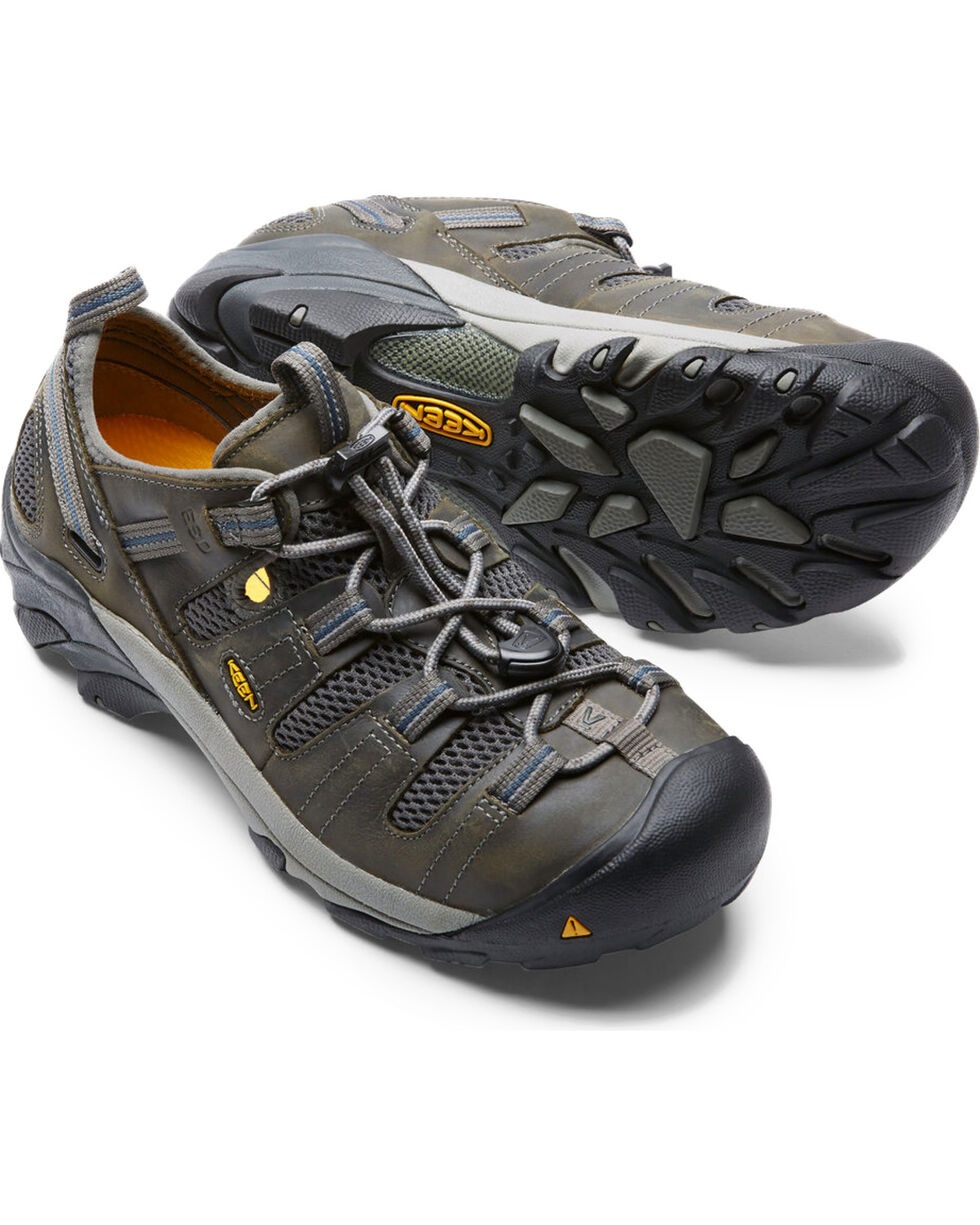 Keen Men's Atlanta Cool ESD Work Shoes - Steel Toe, Grey, hi-res