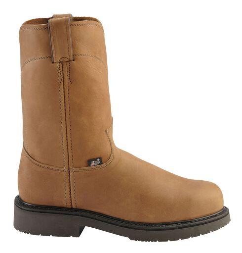 Justin Utah Western Pull-On Work Boots - Steel Toe, Aged Bark, hi-res