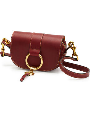 Frye Women's Wine Mini Ilana Harness Leather Saddle Bag , Wine, hi-res