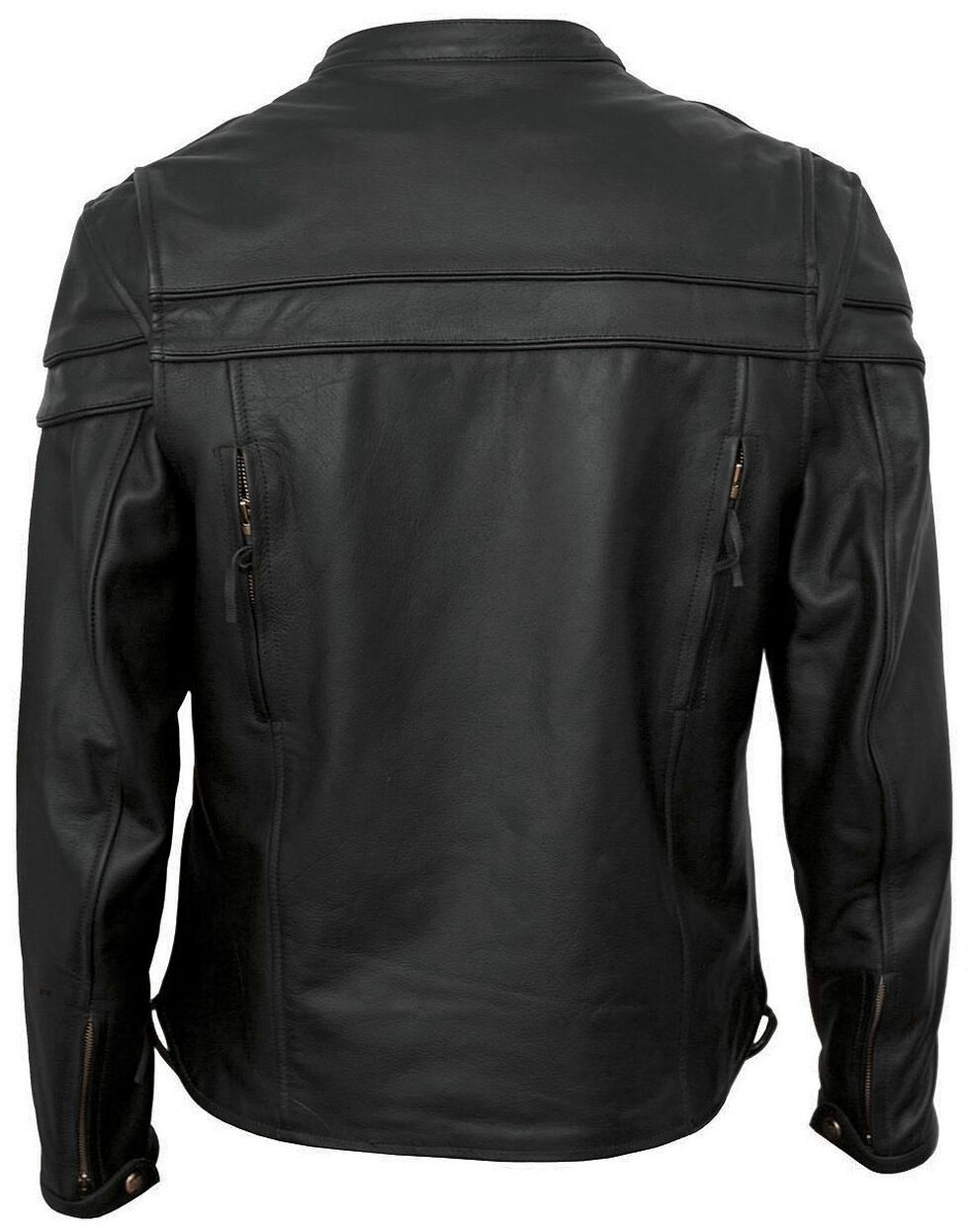 Interstate Leather Scooter Jacket - XL, Black, hi-res