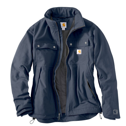 Carhartt Quick Duck Jefferson Traditional Jacket - Big and Tall, Navy, hi-res