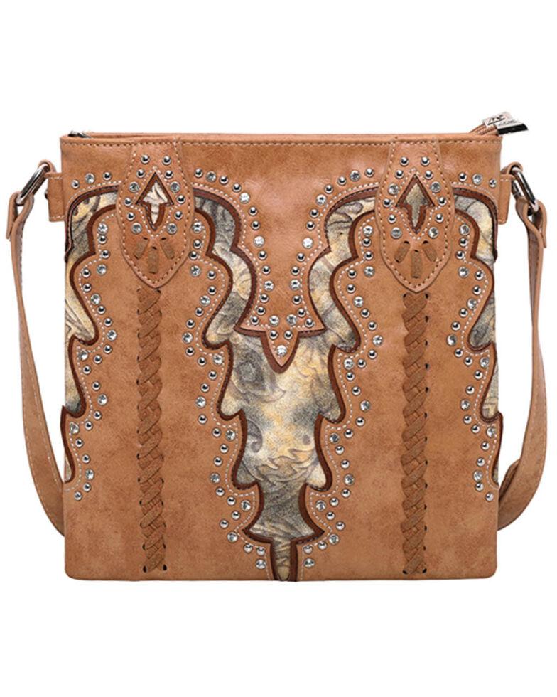 Montana West Women's Boot Scroll Travel Bag, Tan, hi-res