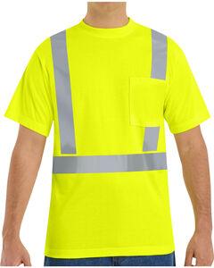 Red Kap Men's Hi-Visibility Short Sleeve Shirt , Yellow, hi-res
