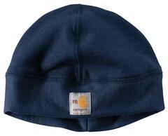 Carhartt Men's Navy Flame-Reistant Fleece Work Hat, Navy, hi-res