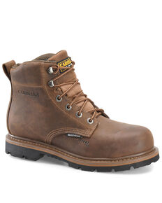 Carolina Men's Dormer Work Boots - Steel Toe, Brown, hi-res