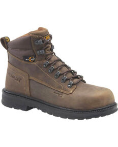 "Carolina Men's Brown 6"" ESD Work Boots - Alloy Toe , Brown, hi-res"