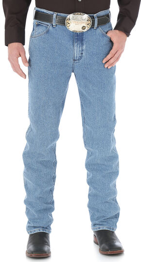 Wrangler Men's Cool Vantage Premium Performance Cowboy Cut Slim Fit Jeans, Light Stone, hi-res