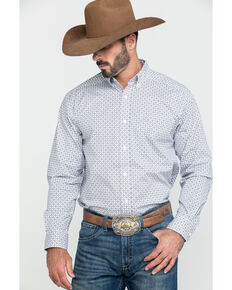 Ariat Men's Ferndale Stretch Geo Print Long Sleeve Western Shirt - Big , Multi, hi-res