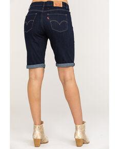 Levi's Women's Dark Wash Bermuda Shorts, Blue, hi-res