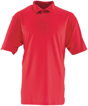 Tru-Spec Men's 24-7 Series Short Sleeve Performance Polo Shirt - Extra Large (2XL - 5XL), Red, hi-res