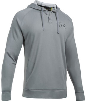 Under Armour Men's Grey Shoreline Hoodie, Grey, hi-res