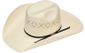 Twister 10X Shantung Ribbon Band Straw Cowboy Hat, Natural, hi-res