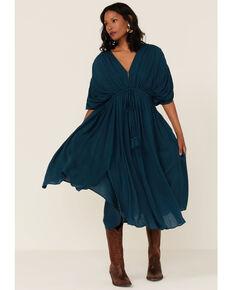 Wishlist Women's Dolman Midi Dress, Teal, hi-res