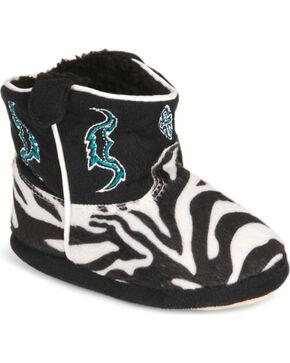 Montana Silversmiths Toddler Boys' Zebra Cowboy Kickers - (9-12), Zebra, hi-res