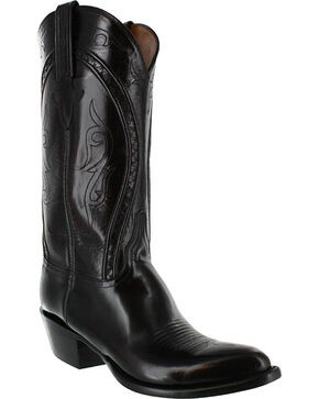 Lucchese Men's Handmade Embroidered Western Boots, Black Cherry, hi-res