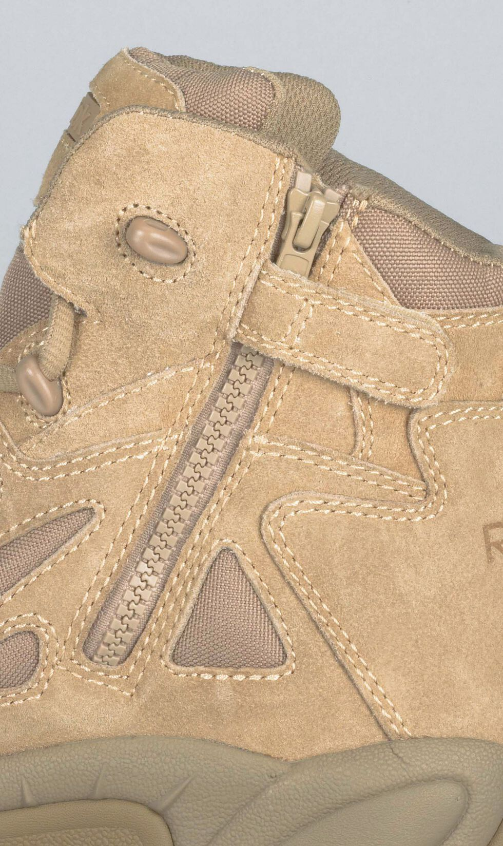 """Reebok Men's Stealth 6"""" Lace-Up with Side-Zip Tactical Work Boots - Composite Toe, Desert Khaki, hi-res"""