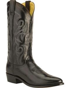 Dan Post Mignon Leather Cowboy Boots - Medium Toe, Black, hi-res