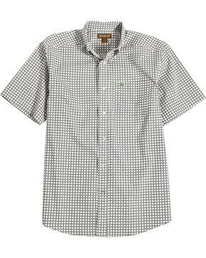 Ariat Men's Black Odessa Print Short Sleeve Shirt , Black, hi-res