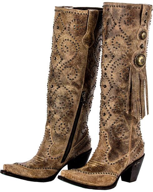 Lane Women's Conchita Western Boots - Snip Toe , Tan, hi-res