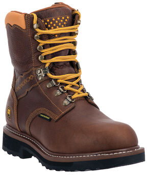 Dan Post Scorpion Waterproof Lacer Zippered Work Boots, Brown, hi-res