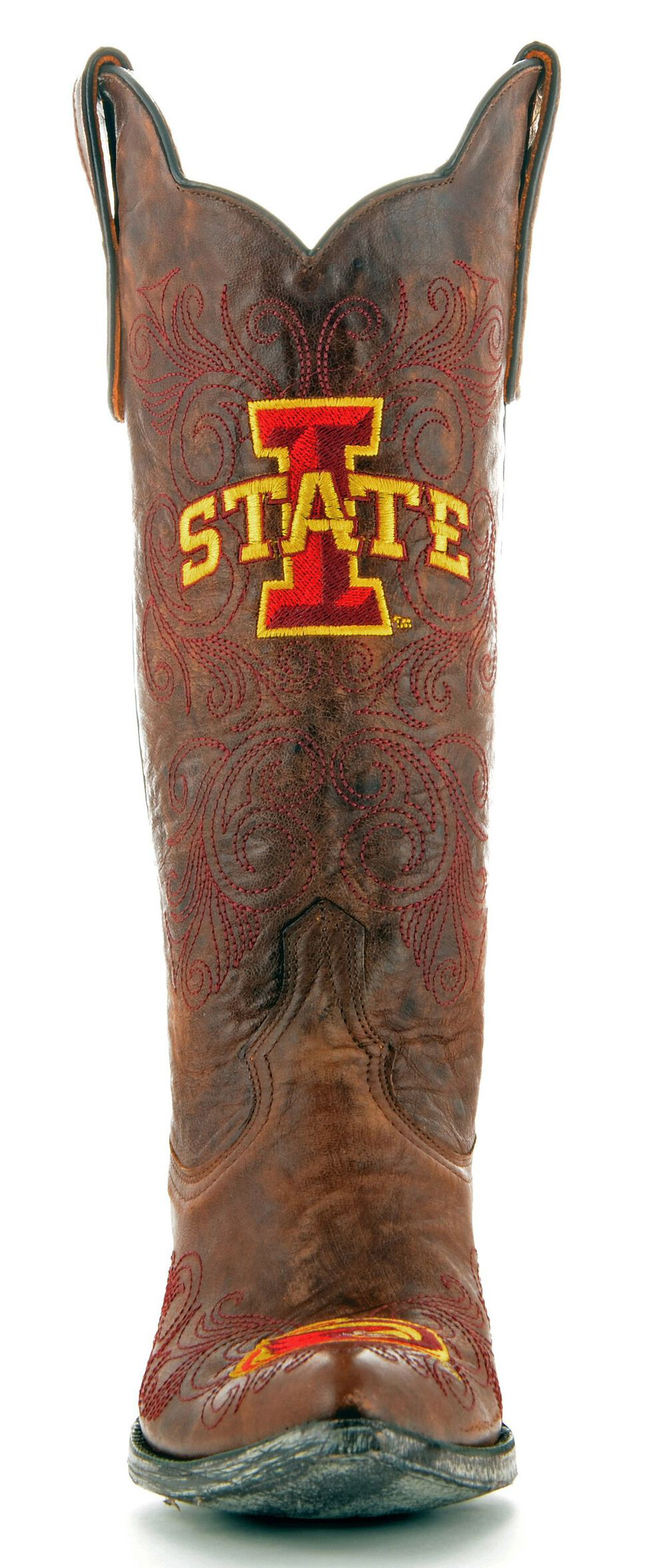 Gameday Iowa State University Cowgirl Boots - Pointed Toe, Brass, hi-res