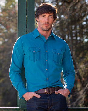 Ryan Michael Men's Blue Textured Stripe Shirt , Blue, hi-res
