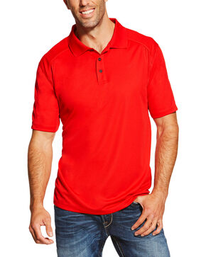 Ariat Men's Red AC Polo, Red, hi-res