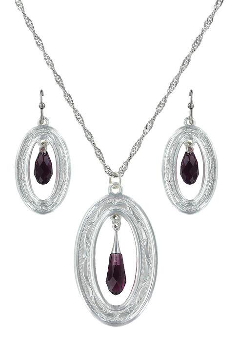 Montana Silversmiths Framed Evening Mist Jewelry Set  , Silver, hi-res
