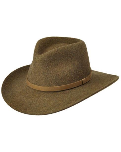 Master Hatters Men's Olive Commuter Crushable Hat, Olive, hi-res