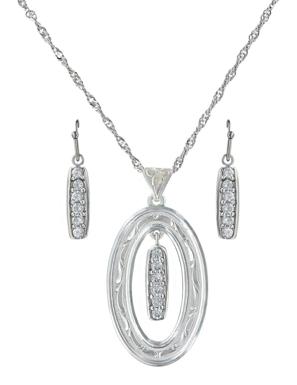 Montana Silversmiths Prairie Aster Jewelry Set , Silver, hi-res