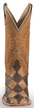 Horse Power Men's Patchwork Western Boots - Square Toe, Brown, hi-res