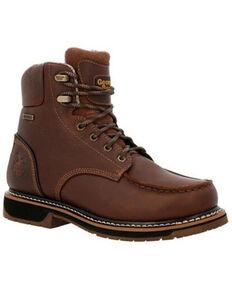 Georgia Boot Men's AMP LT Waterproof Work Boots - Soft Toe, Brown, hi-res
