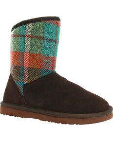 Lamo Footwear Women's Wembley Tweed Boots , Chocolate, hi-res