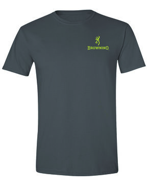 Browning Men's Xtra Buckmark Camo Logo Graphic T-Shirt , Dark Grey, hi-res