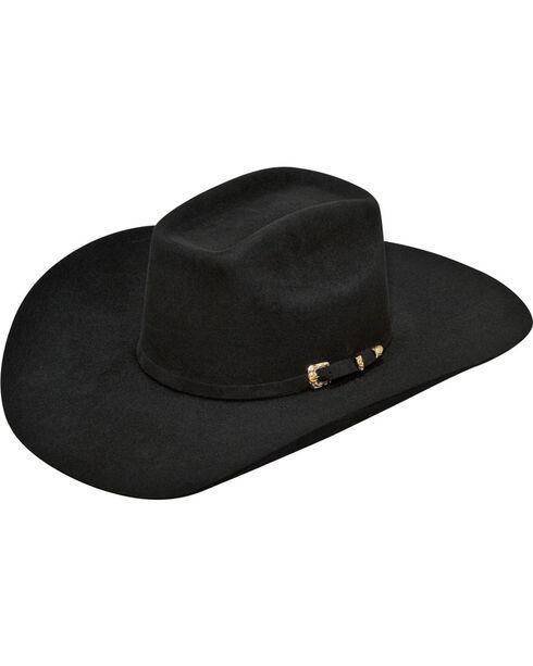Ariat Men's 100% Fur Added Money Cowboy Hat , Black, hi-res
